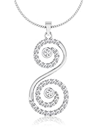IskiUski The 18Kt Diamond White Gold Pendant White Gold Plated For Women