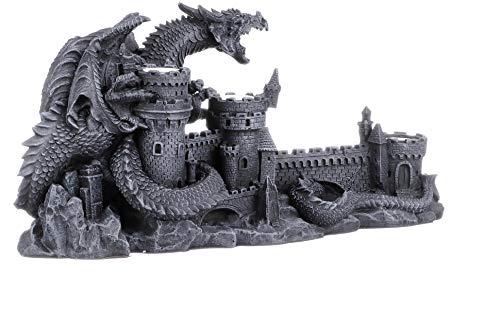 Design Toscano Der Zorn des Drachen Skulpturaler Kerzenhalter, Maße: 45.5 x 16.5 x 21.5 cm 2.25 kg