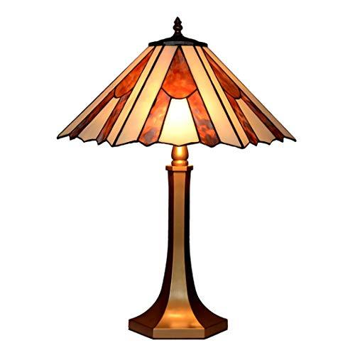 Tiffany Stil Glasmalerei Schatten Tischlampe 16 Zoll Evangelisation Stil Schreibtisch Dekor Lampe für neben Wohnzimmer Schlafzimmer, Zink-Legierung Basis, 16 * 23 Zoll