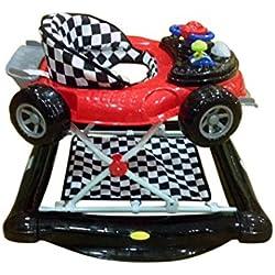 Andador y balancín para bebé, diseño fórmula 1 negro y rojo. Tacatá y balancín. 2 en 1.