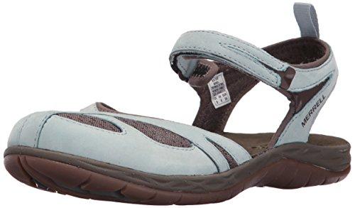 Merrell Siren Strap Q2, Damen Sandalen, grau - Blue Surf - Größe: 3 F UK 3 Strap Sandalen