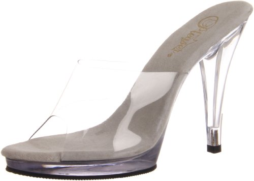 Pleaser Fla401/c/m, Damen Pumps, Transparent (Clear), 38 EU (5 UK)