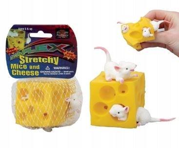 Elástico Squeese ratón y queso antiestrés