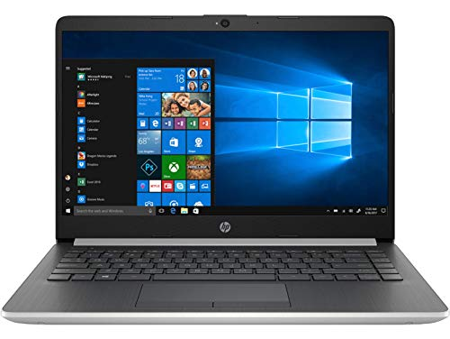"HP 14-cf0019nf PC Portable 14"" Argent (Intel Pentium Silver, 4 Go de RAM, 64 Go, Intel UHD 605, Windows 10)"