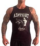 ATHFIGHT Sport Tank Top Muskelshirt für Training Kraftsport,Gym,Fitness & Bodybuilding und Freizeit Motiv Two Fighter