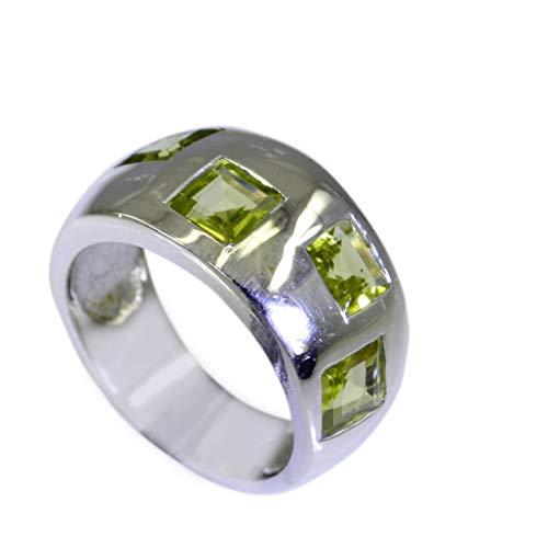 riyo Sterlingsilber des echten Sterlingsilbers 925 Natives echtes grünes RingGeschenk 73 (23.2)