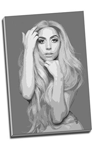 Lady Gaga Wall Art Print auf Leinwand Bild Kunstdruck auf Leinwand groß A176,2x 50,8cm (76.2cm x 50.8cm) (Lady-bild)