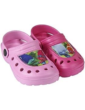 Trolls Zuecos Tipo Crocs Color Rosa o Fucsia - Crocs Trolls Poppy