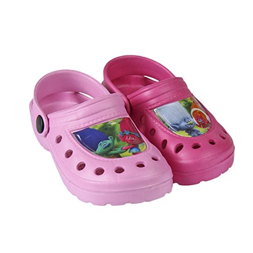 Trolls Zuecos Crocs Color Rosa (26-27)