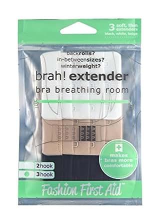 FASHION FIRST AID: Brah! Extender BH Verlängerung Rückenteil-Extender Verlängerung des BH-Verschlusses 3-Stück 3-Haken