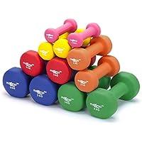 Maximo Fitness Mancuernas de Neopreno (Par) - 2 x 5kg - Pesas de Mano Perfectas para el Desarrollo de Fuerza, Tonificación Muscular, Gimnasia en Casa y Rehabilitación - Ideal para Hombres y Mujeres.