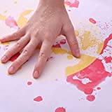 never-hu Tappetino da bagno insanguinato, lenzuolo cambia colore diventa rosso e giallo quando è bagnato, tappetini antiscivolo per bagno con impronte che cambiano colore Halloween magnificent
