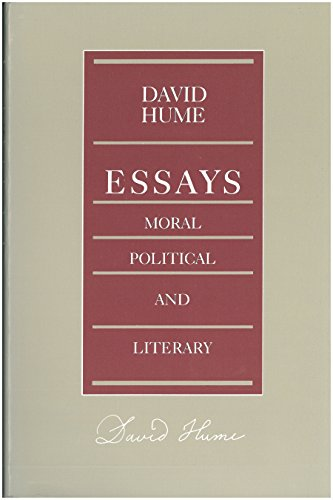 Essays - Moral, Political and Literary