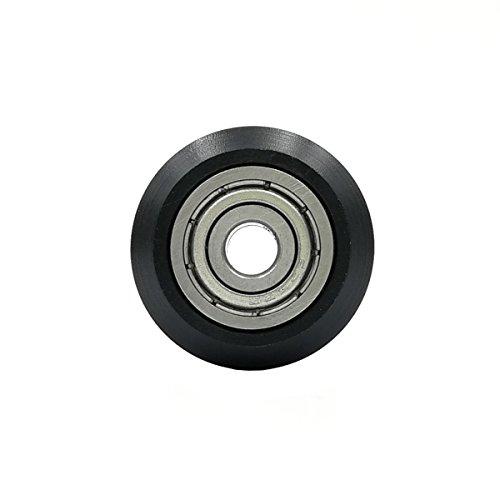 UEETEK Passives rundes Rad des inneren Loch 5mm mit Lagerrollen Zahnrad für Drucker 3D