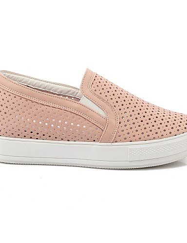 ZQ gyht Scarpe Donna-Mocassini-Casual-Punta arrotondata-Plateau-Finta pelle-Nero / Rosa / Bianco , pink-us11 / eu43 / uk9 / cn44 , pink-us11 / eu43 / uk9 / cn44 white-us11 / eu43 / uk9 / cn44