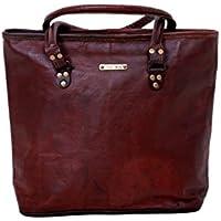 """Urbankrafted fait à la main 16 """"femmes Vintage Style véritable cuir marron sac bandoulière Shoppers sac à main sac à main"""