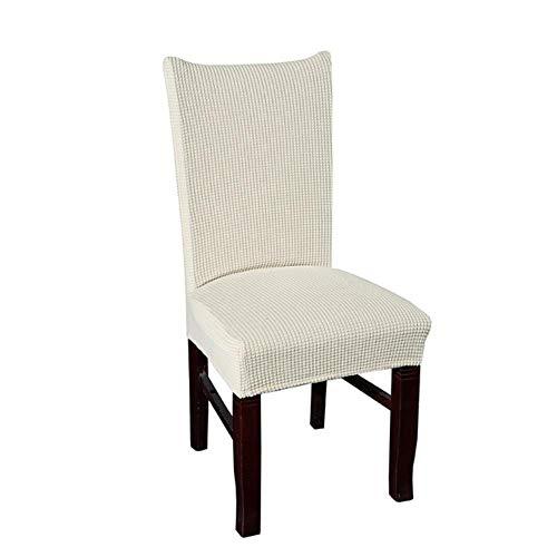 Lczmqrclmzrq 2 pezzi fodera protettiva lavabile fodera per banchetto dell'hotel sala da pranzo decorazioni per la casa jacquard a quadri copertura sedia sedile elasticizzato coprisedie, crema