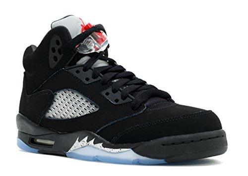 Nike Herren Air Jordan 5 Retro OG BG Basketballschuhe, Black (Schwarz/Feuer-Rot-Metallic-Silber-Weiß), 40 EU (Rote Und Weiße Jordans)