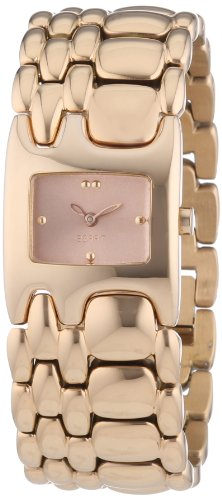 Esprit Women's Quartz Watch Houston Delta Pure with Rosegold Dial and Stainless Steel Metal Strap