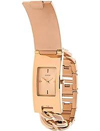 Guess Damen-Armbanduhr XL Analog Quarz Edelstahl W0321L3