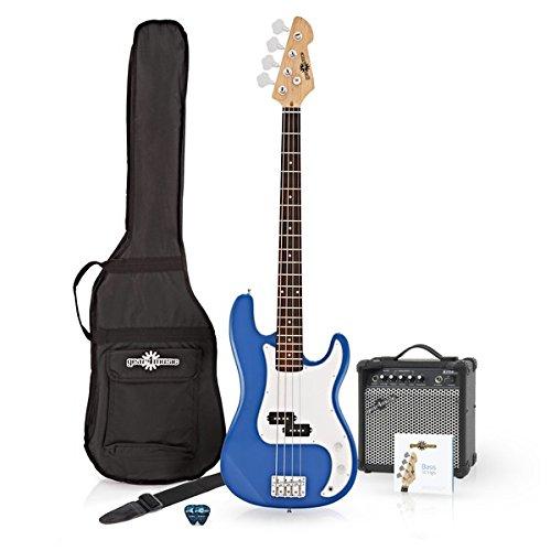Bajo Eléctrico LA + Pack De Amplificador Azul