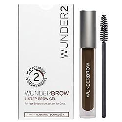 WUNDER2 WunderBrow Eye Brow Gel - perfekte Augenbrauen in weniger als 2 Minuten, Farbe: Black Brown