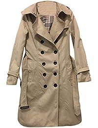 95b72d8ede9b Femme Élégant Blousons Manteau Hiver Veste Trench-Coat Button à Doubl Chic