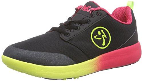 Zumba Footwear Zumba Court Flow, Damen Hallenschuhe, Schwarz (Black), 40.5 EU