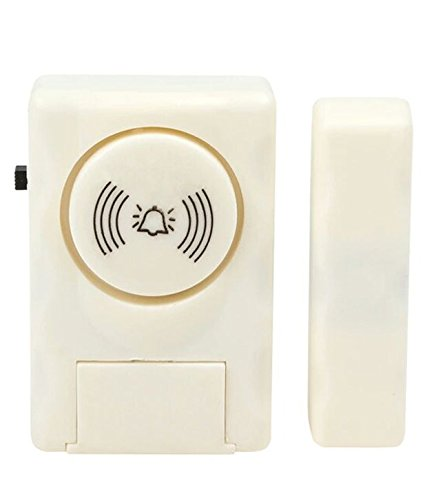 Homelus Wireless Door Security Burglar Sensor Alarm With Magnetic Sensor For Home Office (1.00)