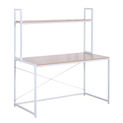 WOLTU Schreibtisch Computertisch Büromöbel PC Tisch Bürotisch Arbeitstisch aus Holz und Stahl,