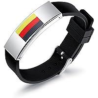 PriMi 2018Coupe du monde de football les fans de football en acier inoxydable Drapeau Bracelet en silicone Bracelet pour FIFA
