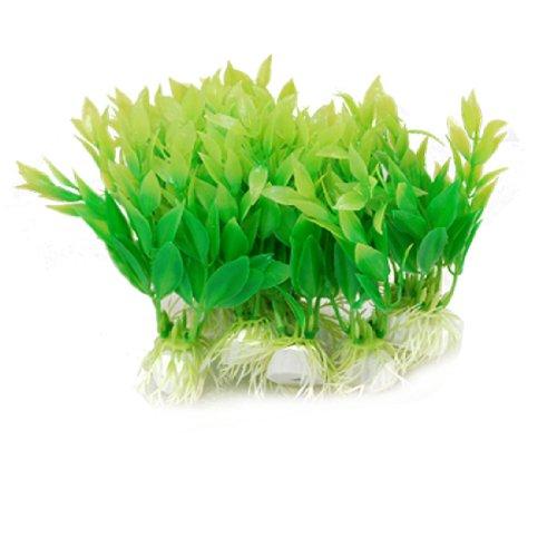 Jardin Kunststoffpflanze für Aquarien, Gras, 10 Stück, Grün