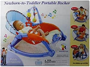 Her Home Latest Newborn-to-Toddler Portable & Folding Rocker cum Chair with Soothing Vibration & A Musical Toy (Excellent Quality)