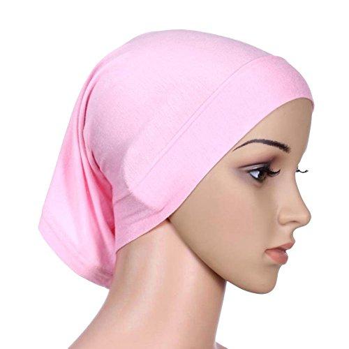 EFINNY Frauen Kopftuch Hijab Lady Muslim Islamischen Hanfstoff Kopftuch Schal