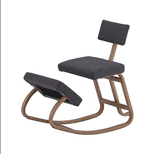Orthopädischer Kniestuhl Ergonomischer Stuhl Orthopädischer Kniestuhl Mit Rücken Computerstuhl Kniehocker Computer-Kniestuhl Bürostuhl Schreibtischstuhl Computerstuhl Gesundheitsstuhl (Color : Gray)