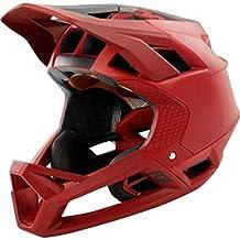 36ba3533f71a5 Fox Proframe Matte - Casco de Bicicleta Hombre - Rojo Negro Contorno de la  Cabeza