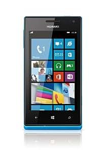 Huawei Ascend W1 Smartphone con Display Touchscreen da 10.2 cm (4 Pollici), Snapdragon S4, Dual-Core, 1.2GHz, 512MB RAM, Fotocamera da 5 Megapixel, Win 8, Colore Blu