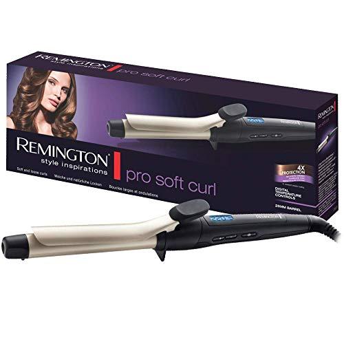 Remington Pro Soft Curl Ci6325 - Rizador de pelo, Pinza de 25 mm, Cerámica, Turmalina, Antiestático...