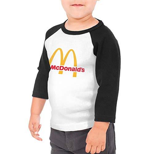 Jungen Sommer T-Shirt McDonalds Logo T Shirt Shirts Für Kleinkind Mädchen Jungen Kurzhülse Schwarz 5/6 T ()
