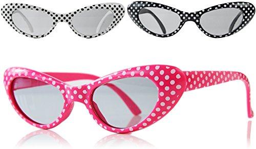0er 60er Jahre Partybrille Rockn Roll Sonnenbrille für Erwachsene ()