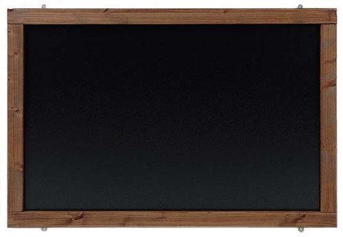 Rustikale Tafel Kreidetafel Wandtafel Küchentafel mit Holzrahmen zur Beschriftung mit Kreide im Landhausstil in verschiedenen Größen und Farben (Kolonial, 120x60cm)