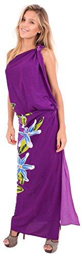 La gonna bikini costumi da bagno Leela morbido insabbiamento rayon involucro di ibisco sarong 78x43inch Orchidee Lavanda