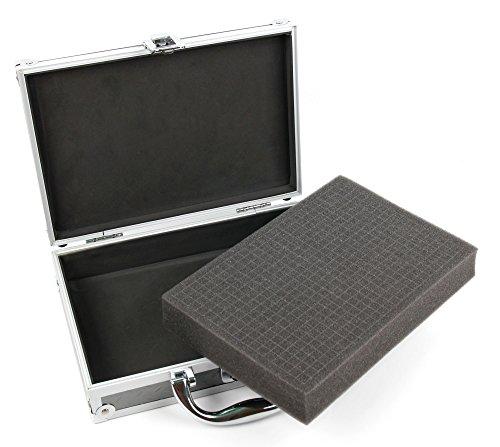 Für die Pattex Heißklebepistole Made at Home: DuraGadget Koffer aus eloxiertem Aluminium, mit Schlüssel und Ersatzschlüssel