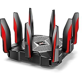 TP-Link Archer C5400X Tri-Band Gaming Router, Wi-Fi, 64 GHz Quad-Core CPU mit 3 Coprozessor und 1 GB RAM
