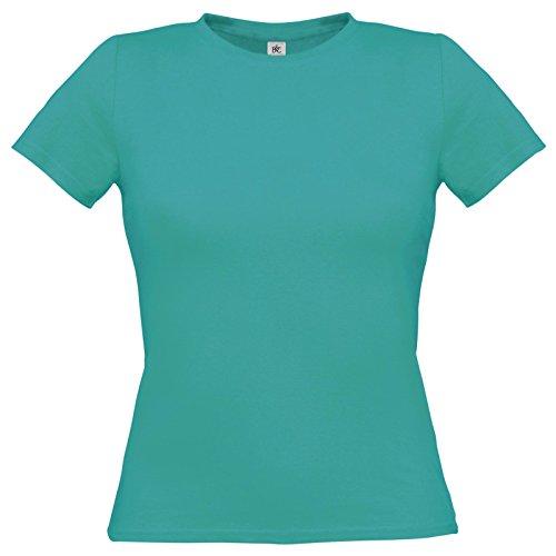 Flirty Wardrobe B & C uniquement Drap en coton T-shirt pour femme Vert - Real Turquoise