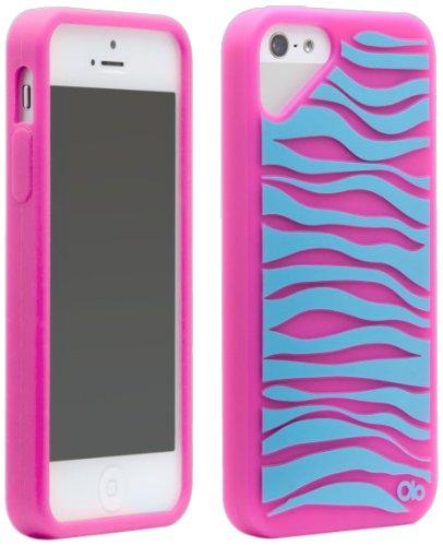 Olo Cloud Case für Apple iPhone 5–P Fashion- Zebra Pink