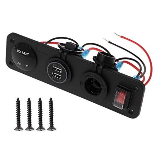 huiouer Dual USB 2.1 A Ladegerät LED Voltmeter Zigarettenanzünder Netzteil Schalter Panel -