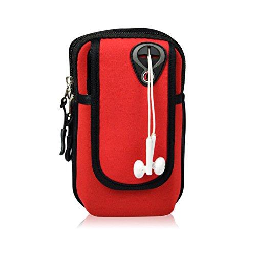 Armtasche Sport Armband Hülle Arm Tasche Rennen Case Handy Schlüssel Halter Outdoor Armband Rennen Sportarmband für Bis zu 6,0