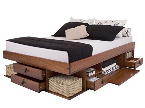 Memomad Funktionsbett Bali 140x200 Viel Stauraum, Schubladen, Preis inkl. Lattenrost