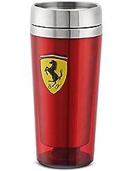 Ferrari Red Stainless Steel Travel Mug w/ Shield Logo by Ferrari